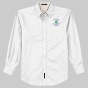 Adult Long-Sleeve Twill - White