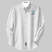 Ladies Long-Sleeve Twill - White